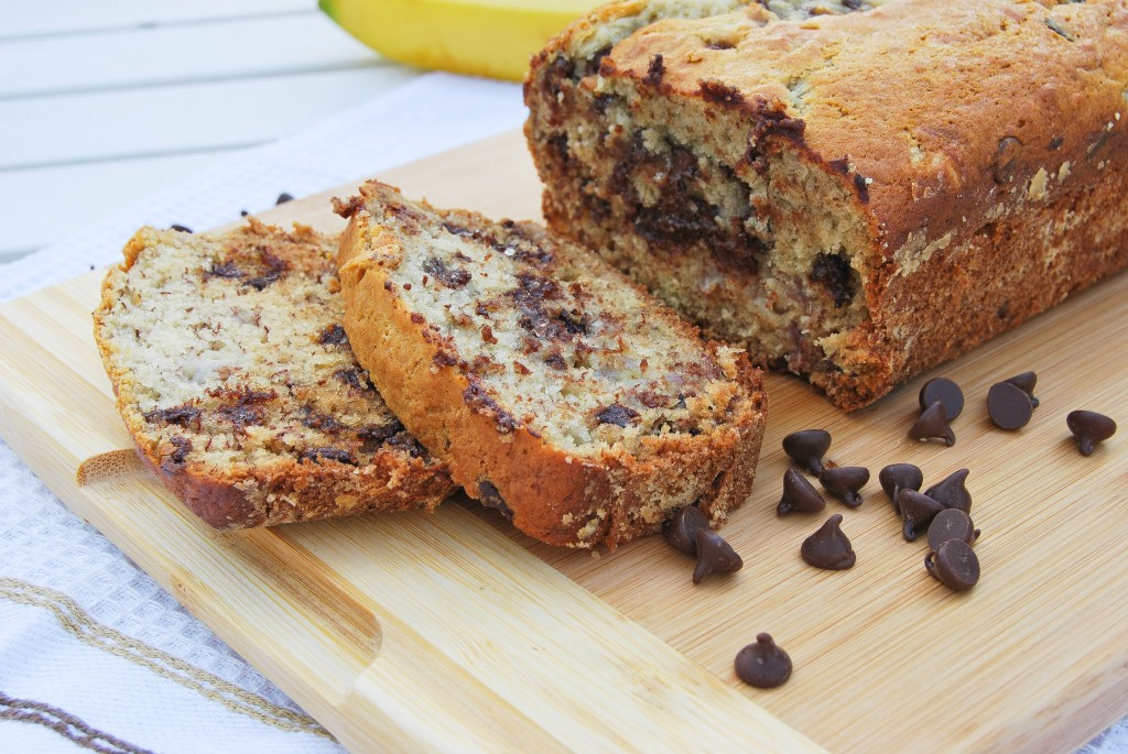 slice of chocolate chip banana bread will bring a smile to anybody ...