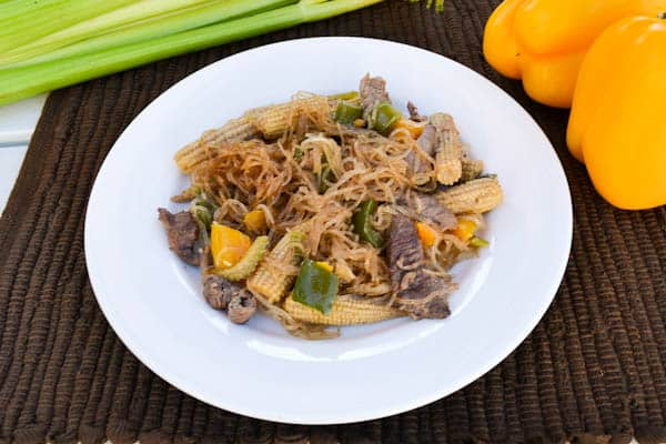 Beef Stir Fry with Vermicelli Noodles