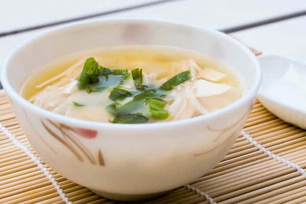 Miso Soup with Tofu and Enoki Mushroom - Salu Salo Recipes