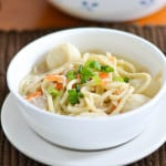 Chicken and Fish Ball Noodle Soup