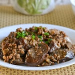 Chinese Eggplants with Chili Garlic Sauce