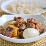 Braised Pork in Soy Sauce (Tau Yew Bah)