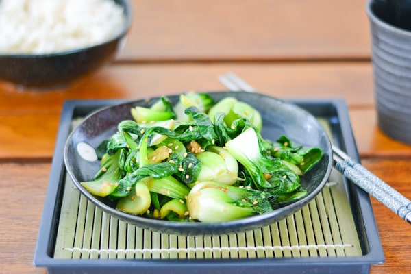 Stir-fried Sesame Bok Choy