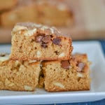 Butterscotch Bars with Cashews and Chocolate Chips