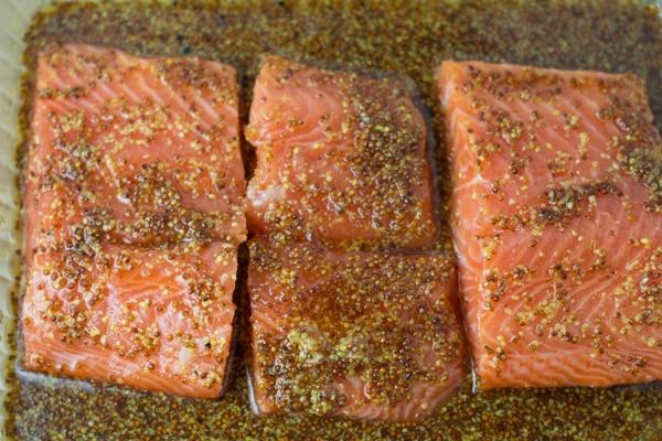 Maple Mustard Baked Salmon