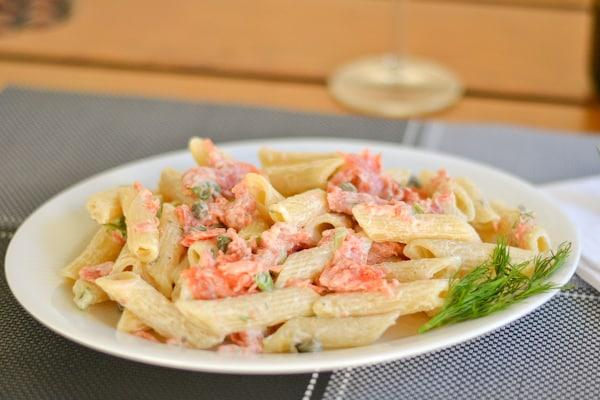 Pasta with Smoked Salmon and Cream Cheese Sauce - Salu Salo Recipes