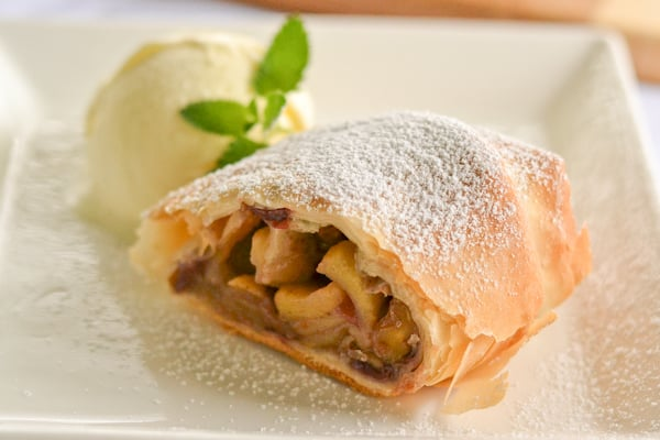 Apple Strudel with Cranberries and Walnuts - Salu Salo Recipes