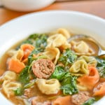 Sausage and Tortellini Soup with Spinach