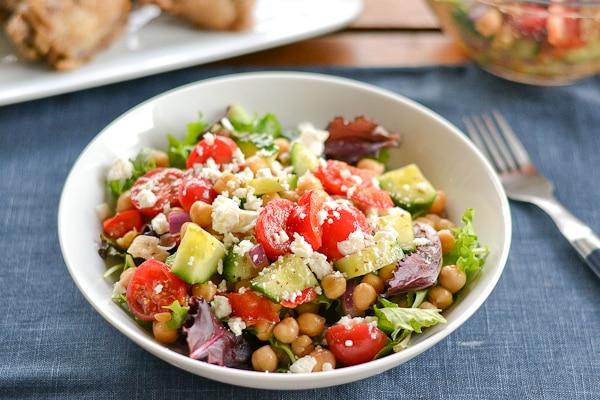 Greek Style Chickpea Salad - Salu Salo Recipes
