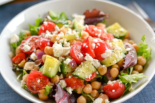 Greek Garbanzo Bean Salad Recipe — Dishmaps