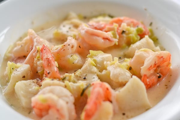 Shrimp and fish chowder salu salo recipes for Fish and seafood