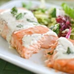 Salmon with Creole Mustard Sauce