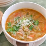 Minestrone Soup with Bacon and Kale