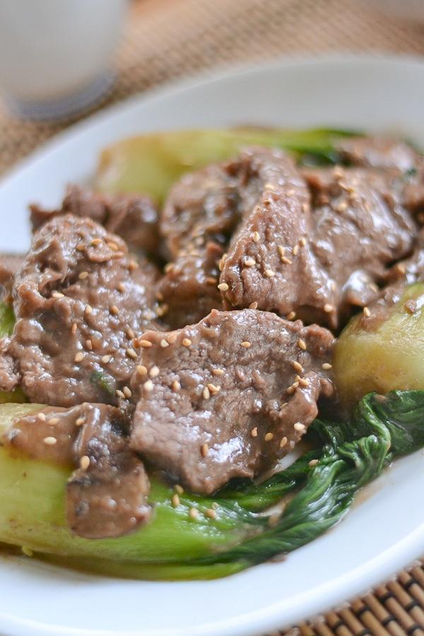 Stir Fried Beef with Shanghai Bok Choy