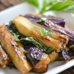 Fried Eggplant with Basil