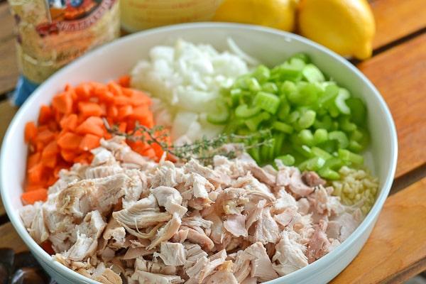 Lemon Chicken Orzo Soup Ingredients