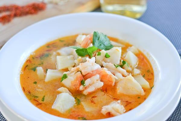 Catalan style fish soup salu salo recipes for Fish soup near me