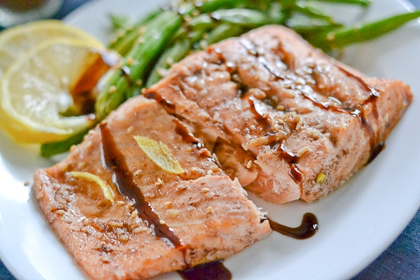 Five-Spice-Glazed Salmon With Sesame Green Beans Recipes ...