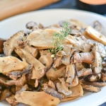 Oven Roasted Wild Mushrooms with Garlic and Thyme
