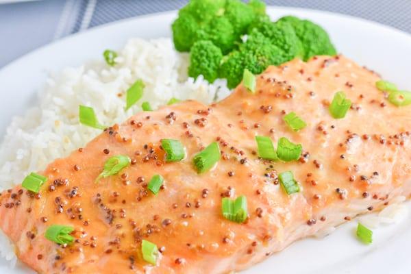 Maple Miso Dijon Salmon