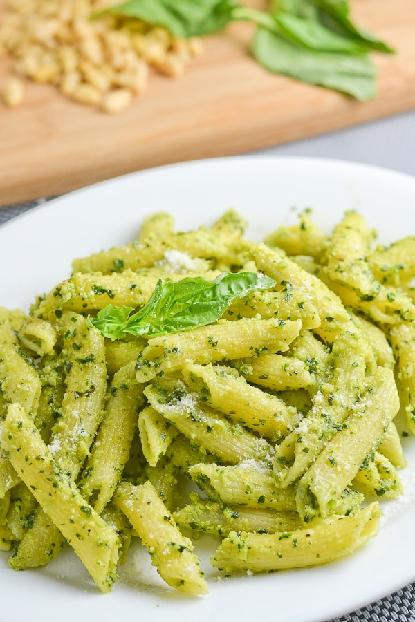 pesto penne and ridiculous brownies basil pesto basil pesto basil
