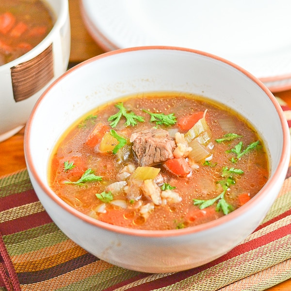 Slow Cooker Beef and Barley Soup - Salu Salo Recipes