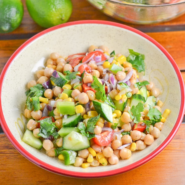 Corn And Chickpea Fiesta Salad Salu Salo Recipes