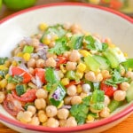 Corn and Chickpea Fiesta Salad
