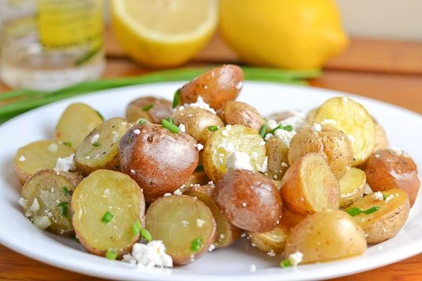 Roasted Potato with Feta and Lemon Vinaigrette
