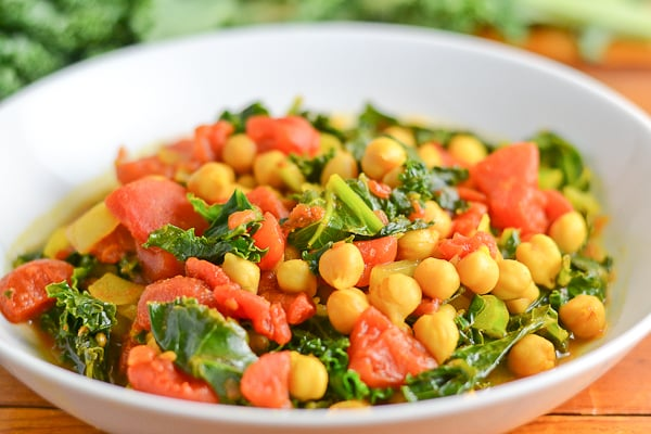 Chick Pea Curry with Kale