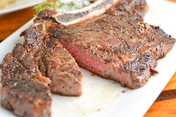 Pan Fried Rib Eye Steak