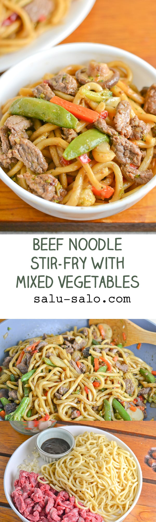 Beef Noodle Stir-Fry with Mixed Vegetables