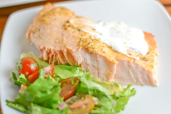 Greek Style Baked Salmon