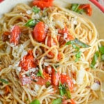 Spaghetti with Pancetta and Cherry Tomatoes