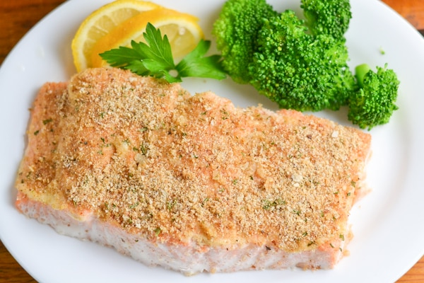 Crumb Crusted Baked Salmon