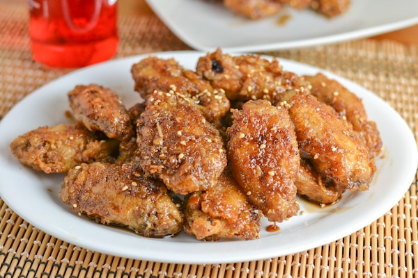 Korean Fried Wings with Sweet Garlic Sauce
