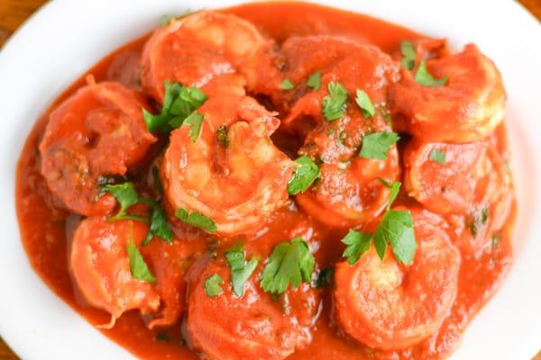 Saucy Tomato Garlic Shirmp