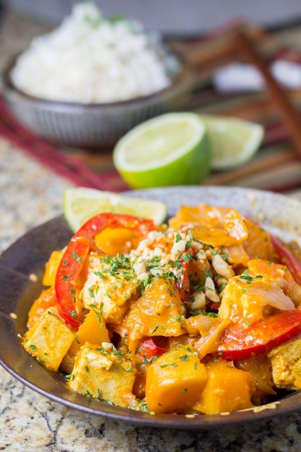 Vegan Curry with Tofu and Squash