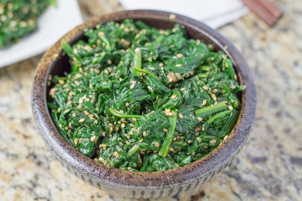 Gomae Japanese Spinach Salad