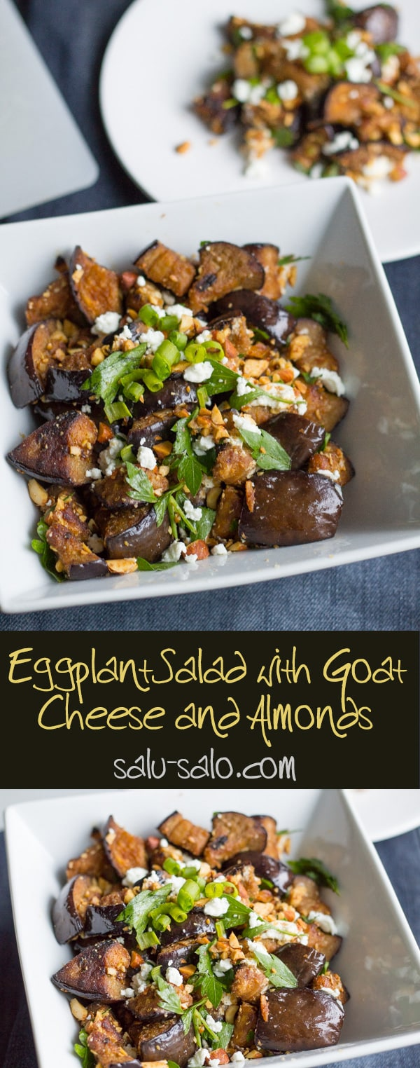 Eggplant Salad with Goat Cheese and Almonds