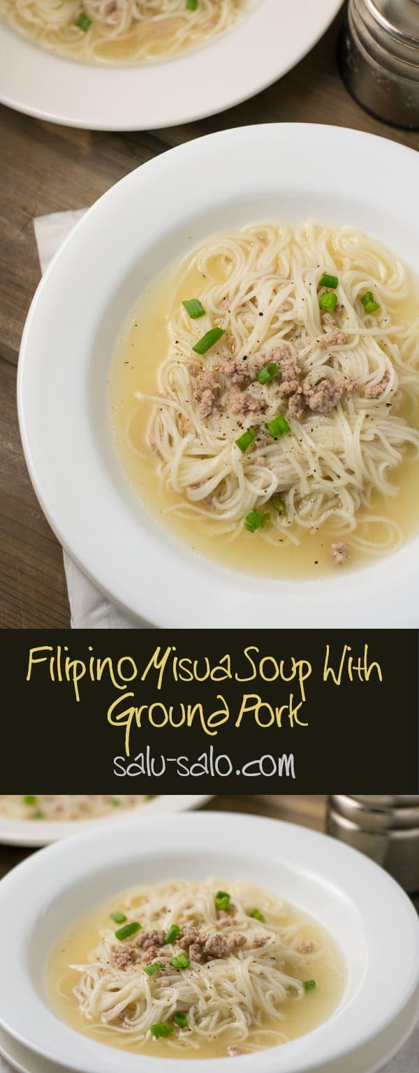 Misua Soup with Ground Pork