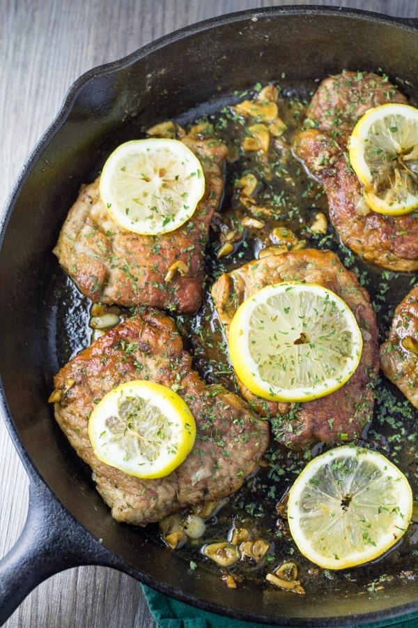 Lemon Garlic Pork Chops