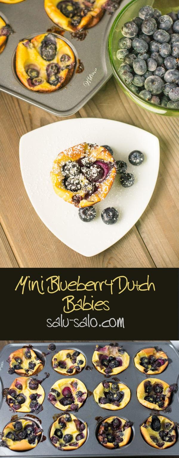 Mini Blueberry Dutch Babies