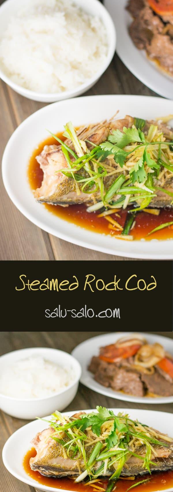 Steamed Rock Cod