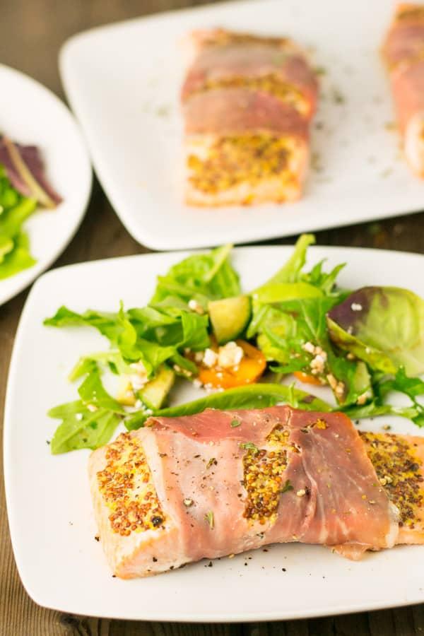 Prosciutto Wrapped Salmon
