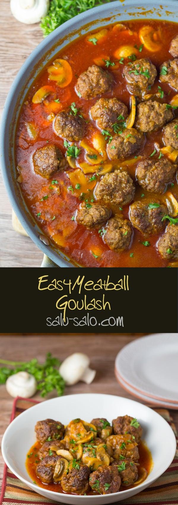 Easy Meatball Goulash
