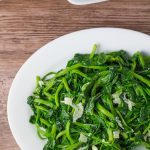 Snow Pea Leaves with Garlic
