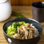 Ginger Chicken Stir Fry with Mushroom and Broccoli