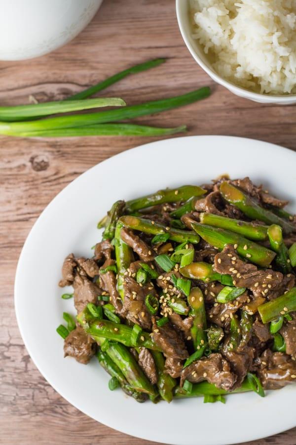 Steak and Asparagus Stir Fry