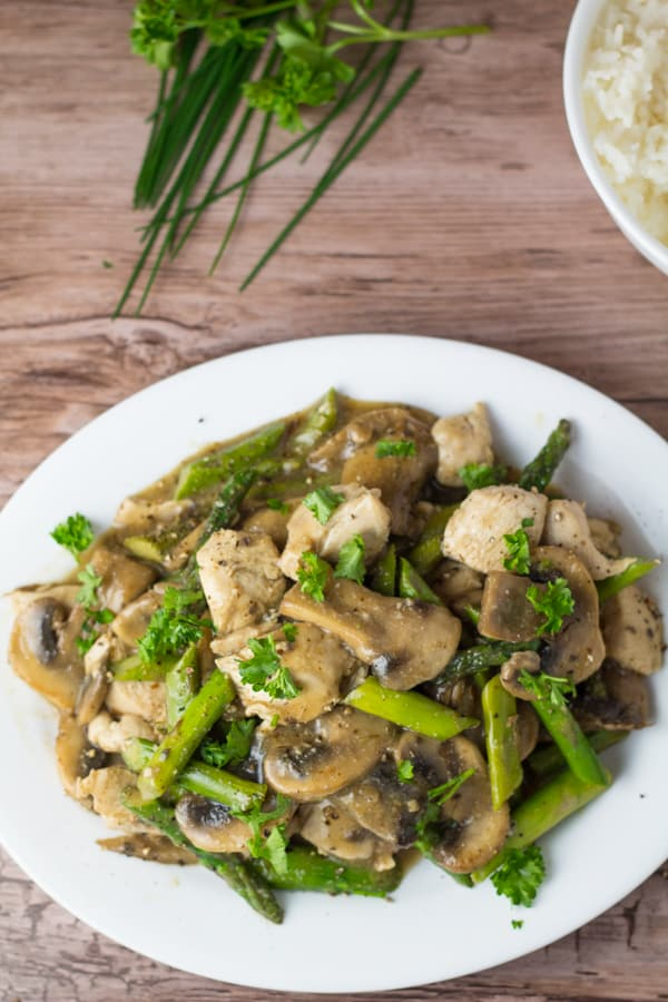 Honey Mustard Chicken and Asparagus Stir Fry